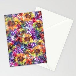 Rainy Day Sunflower Garden Stationery Cards