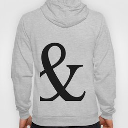 Typography, Ampersand, And Sign Hoody