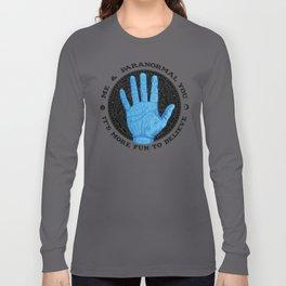 Me & Paranormal You - James Roper Design - Palmistry (black lettering) Long Sleeve T-shirt