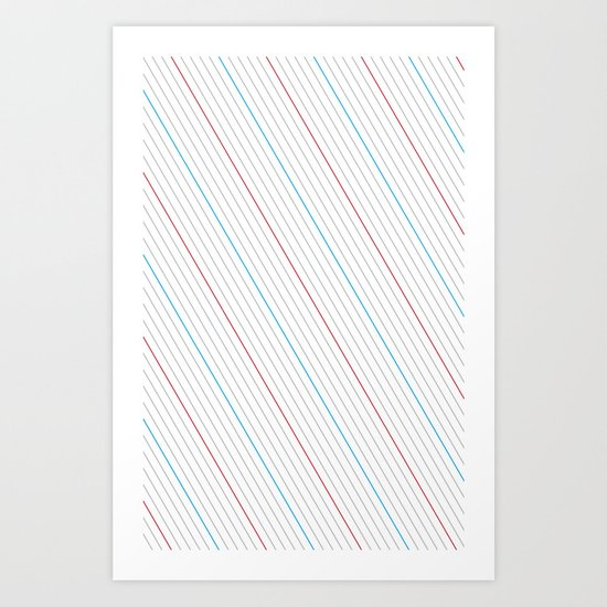 Simple Lines Art Print