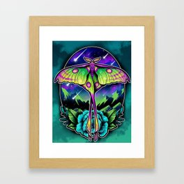 Comet Moth Framed Art Print