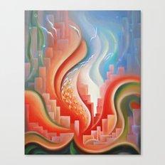Hibiscus City Canvas Print