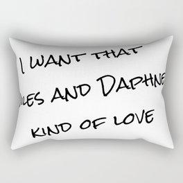 Niles &  Daphne Rectangular Pillow