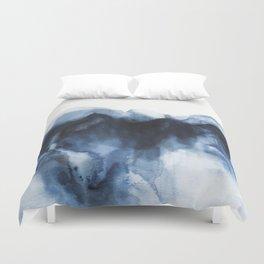 Abstract Indigo Mountains Duvet Cover