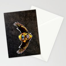 Happy Cycloptic Dog Eagle with a Stache (scratch back) Stationery Cards