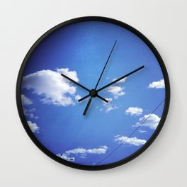nothing but blue skys. Wall Clock