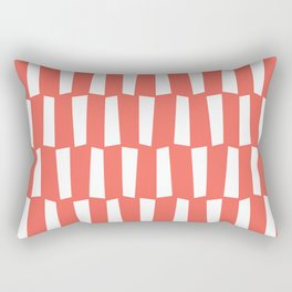 Living coral and white abstract shapes pattern Rectangular Pillow