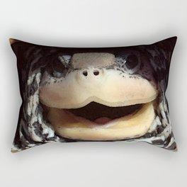 Watercolor Diamondback Terrapin Rectangular Pillow