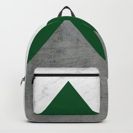 Marble Green Concrete Arrows Collage Backpack