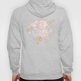 Roses Gold Glitter Pink by Nature Magick Hoody