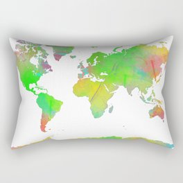 World Map 7 Rectangular Pillow