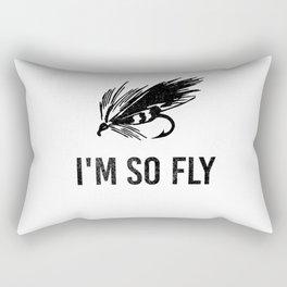 I'm So Fly Fishing Hook Flies Fisherman Gift Rectangular Pillow
