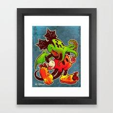 MICKTHULHU MOUSE (color) Framed Art Print