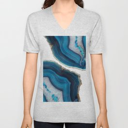 Blue Agate Unisex V-Neck