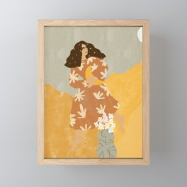 I Stole the Moon Framed Mini Art Print