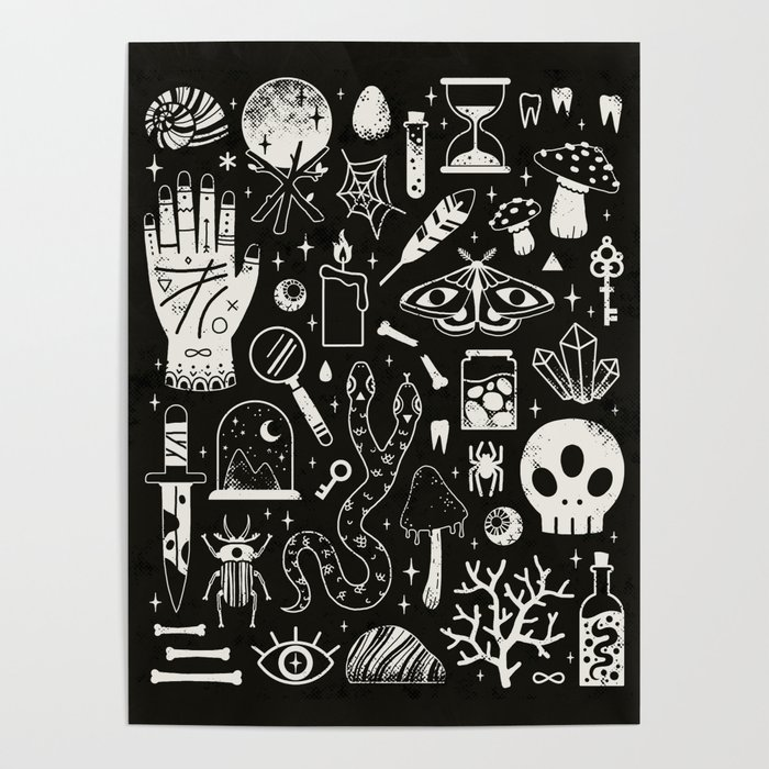 Curiosities: Bone Black Poster
