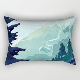Canadian Mountain Rectangular Pillow