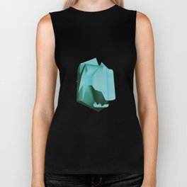 3D turquoise flying object  Biker Tank