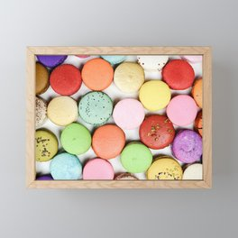 Rainbow Macaroons Framed Mini Art Print