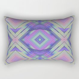 Purple and Green Woven Squares Rectangular Pillow
