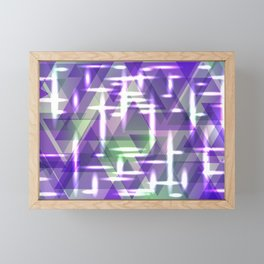 Spring pastel purple shiny triangles. Framed Mini Art Print