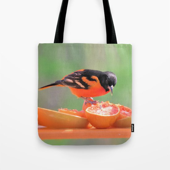 Orange Juice for Breakfast (Baltimore Oriole) Tote Bag