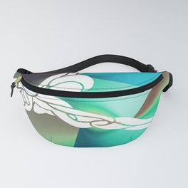 Blue Stretch Fanny Pack