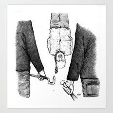 Explication Avec Le Banquier Art Print