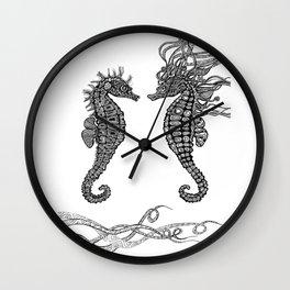 Seahorses love Wall Clock