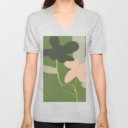 Floral Motifs 4 Unisex V-Neck