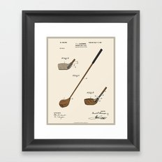 Golf Club Patent - Colour Framed Art Print