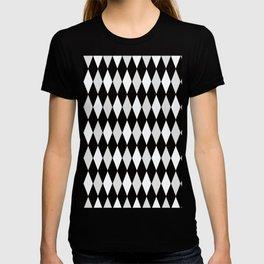 Harlequin Black and White and Gray T-shirt