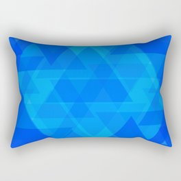 Bright blue and celestial triangles in the intersection and overlay. Rectangular Pillow
