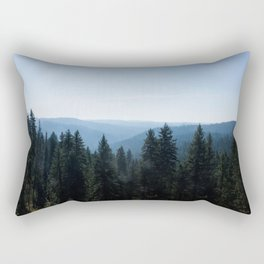 Scenic Tree Lined Valley Photography Print Rectangular Pillow