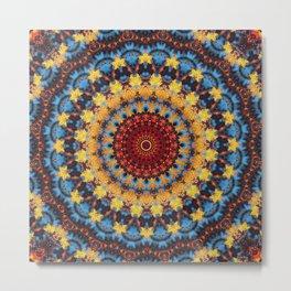 Fall Sky Mandala Metal Print