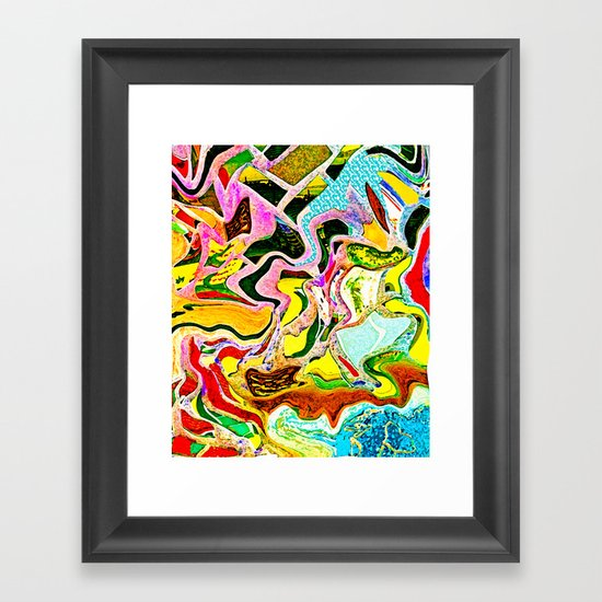 Summer Stain Framed Art Print