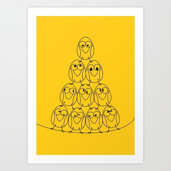 Bird Tower Art Print