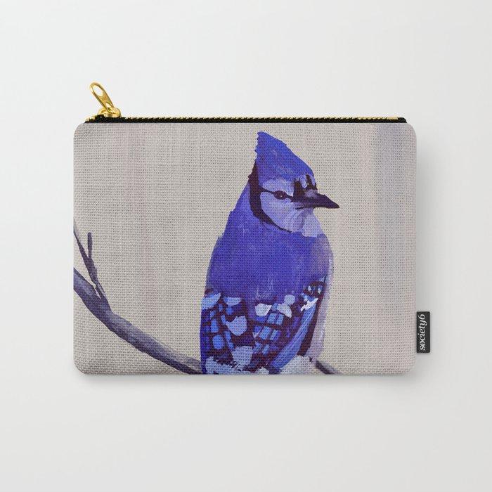 Blue Jay Bird Carry-All Pouch