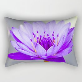 Blue Lotus In Bloom Rectangular Pillow