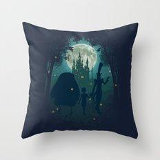 Midnight Stroll Throw Pillow