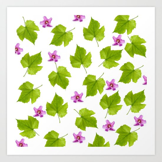 Dance of the tropical flowers Art Print