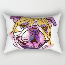 The Bully is the happy Love of my Life! Rectangular Pillow