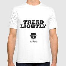 Breaking Bad - Tread Lightly - Heisenberg Mens Fitted Tee MEDIUM White