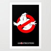 ghostbusters Art Prints featuring Ghostbusters by IIIIHiveIIII