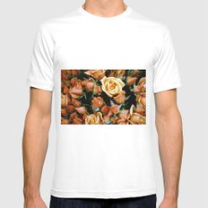 Rosebuds, Darling Rosebuds Mens Fitted Tee White SMALL