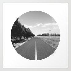 Straight & Narrow. Art Print