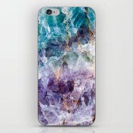 Turquoise & Purple Quartz Crystal iPhone Skin