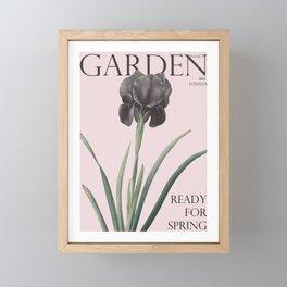 Victoria's Garden, feat. Iris Luxiana, Magazine Cover Framed Mini Art Print