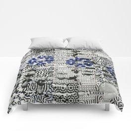 Nagging Little Virtual Elements (P/D3 Glitch Collage Studies) Comforters