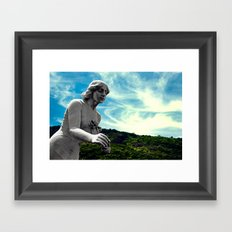 Sky/Statue#3 Framed Art Print